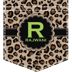 Granite Leopard Iron On Faux Pocket (Personalized)