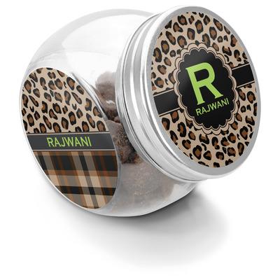 Granite Leopard Puppy Treat Jar (Personalized)