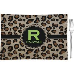 Granite Leopard Rectangular Glass Appetizer / Dessert Plate - Single or Set (Personalized)