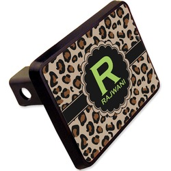 "Granite Leopard Rectangular Trailer Hitch Cover - 2"" (Personalized)"