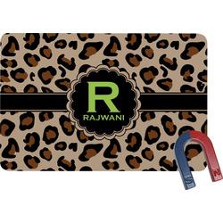 Granite Leopard Rectangular Fridge Magnet (Personalized)