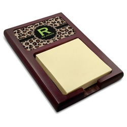 Granite Leopard Red Mahogany Sticky Note Holder (Personalized)