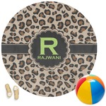 Granite Leopard Round Beach Towel (Personalized)