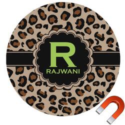Granite Leopard Car Magnet (Personalized)