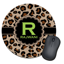 Granite Leopard Round Mouse Pad (Personalized)
