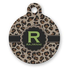 Granite Leopard Round Pet Tag (Personalized)