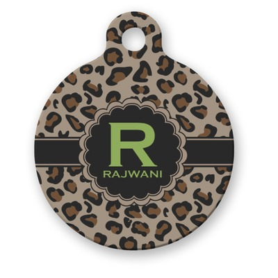 Leopard Print Dog Name Tags