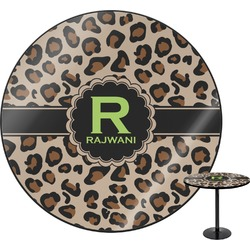 Granite Leopard Round Table (Personalized)