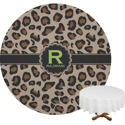 Granite Leopard Round Tablecloth (Personalized)