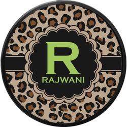 Granite Leopard Round Trailer Hitch Cover (Personalized)
