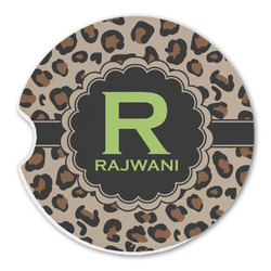 Granite Leopard Sandstone Car Coasters (Personalized)