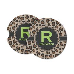 Granite Leopard Sandstone Car Coasters (Personalized)