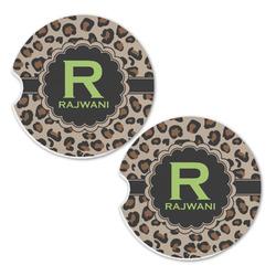Granite Leopard Sandstone Car Coasters - Set of 2 (Personalized)
