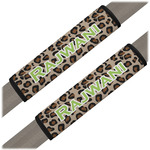 Granite Leopard Seat Belt Covers (Set of 2) (Personalized)