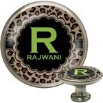 Granite Leopard Cabinet Knob (Silver) (Personalized)