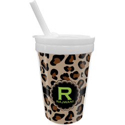 Granite Leopard Sippy Cup with Straw (Personalized)