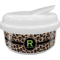 Granite Leopard Snack Container (Personalized)