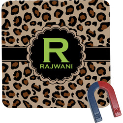 Granite Leopard Square Fridge Magnet (Personalized)