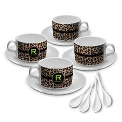 Granite Leopard Tea Cup - Set of 4 (Personalized)