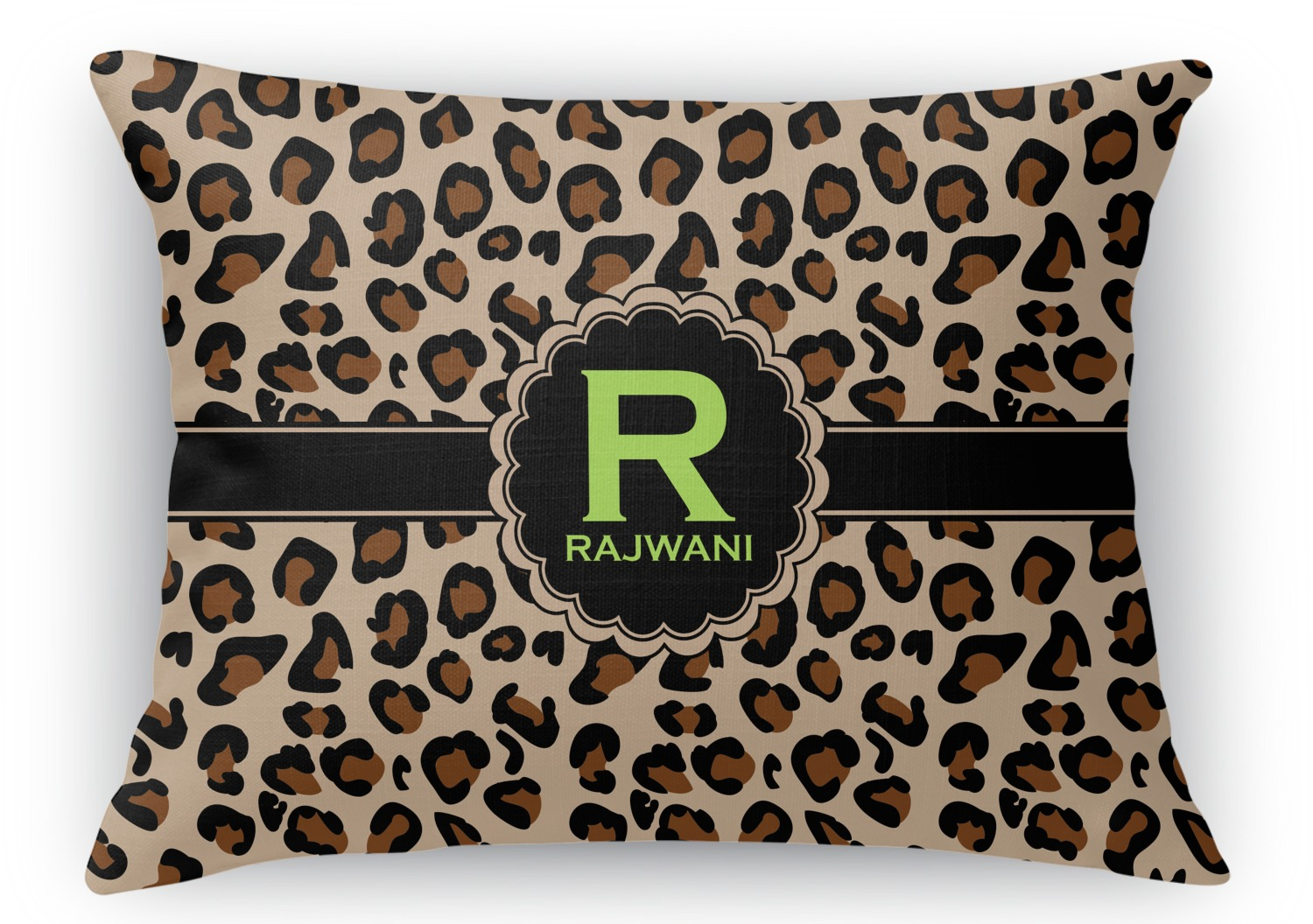 Rectangular Throw Pillow Dimensions : Granite Leopard Rectangular Throw Pillow - 12