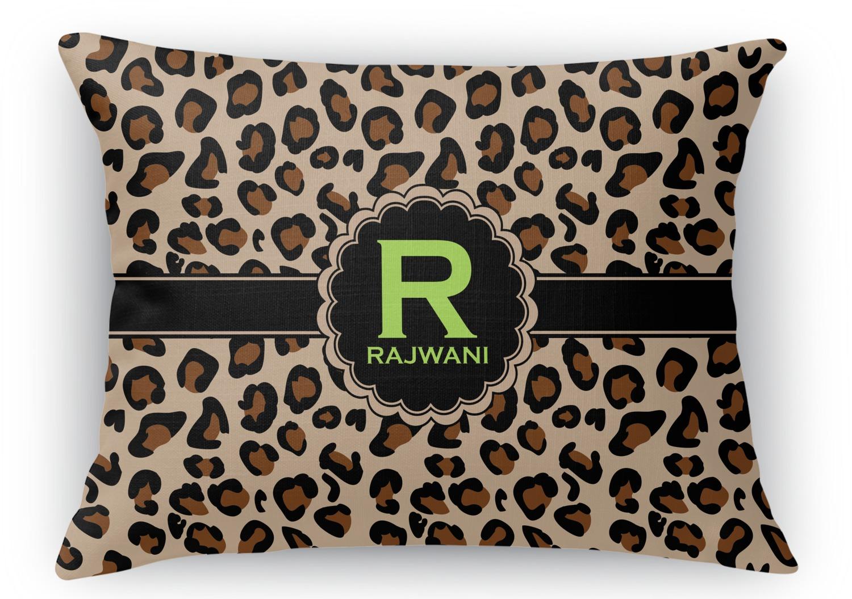 Rectangular Throw Pillow Dimensions : Granite Leopard Rectangular Throw Pillow - 12