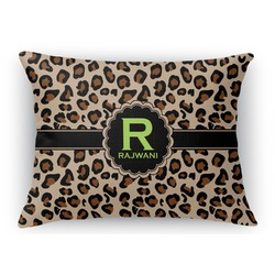 Granite Leopard Rectangular Throw Pillow Case (Personalized)