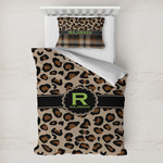 Granite Leopard Toddler Bedding w/ Name and Initial