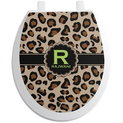 Granite Leopard Toilet Seat Decal - Round (Personalized)
