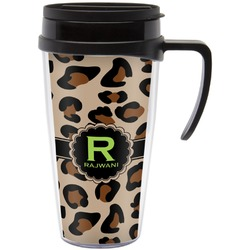 Granite Leopard Travel Mug with Handle (Personalized)