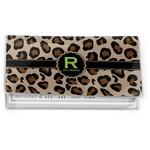 Granite Leopard Vinyl Check Book Cover (Personalized)
