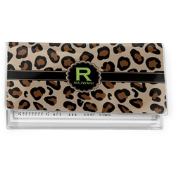 Granite Leopard Vinyl Checkbook Cover (Personalized)