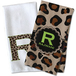 Granite Leopard Waffle Weave Kitchen Towel (Personalized)