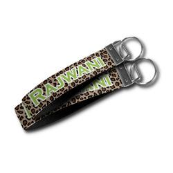 Granite Leopard Wristlet Webbing Keychain Fob (Personalized)
