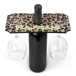 Granite Leopard Wine Bottle & Glass Holder (Personalized)
