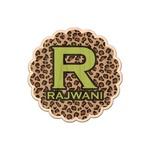 Granite Leopard Genuine Maple or Cherry Wood Sticker (Personalized)