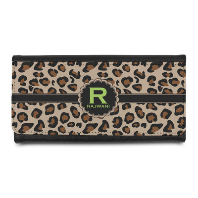 Granite Leopard Leatherette Ladies Wallet (Personalized)
