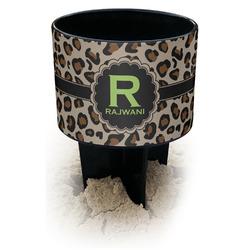 Granite Leopard Black Beach Spiker Drink Holder (Personalized)