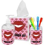 Lips (Pucker Up) Acrylic Bathroom Accessories Set