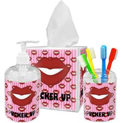 Lips (Pucker Up) Bathroom Accessories Set