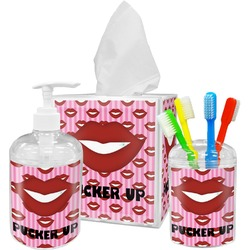Lips (Pucker Up) Bathroom Accessories Set