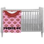 Lips (Pucker Up) Crib Comforter / Quilt