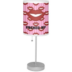 """Lips (Pucker Up) 7"""" Drum Lamp with Shade"""