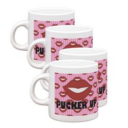 Lips (Pucker Up) Espresso Mugs - Set of 4