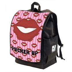 Lips (Pucker Up) Backpack w/ Front Flap