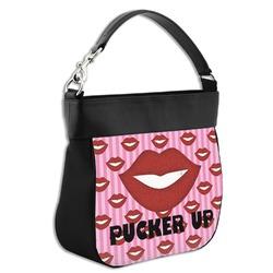 Lips (Pucker Up) Hobo Purse w/ Genuine Leather Trim