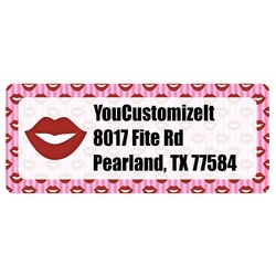 Lips (Pucker Up) Return Address Labels