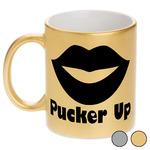 Lips (Pucker Up) Metallic Mug
