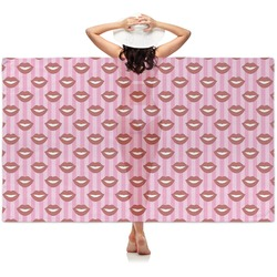 Lips (Pucker Up) Sheer Sarong