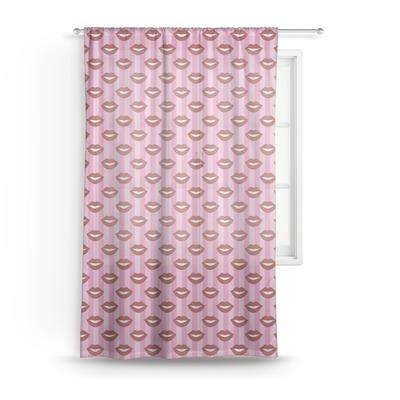 Lips (Pucker Up) Sheer Curtains