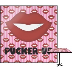 Lips (Pucker Up) Square Table Top - 30""